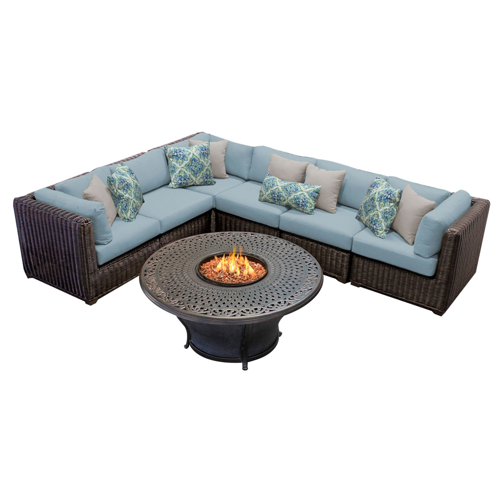 TK Classics Venice 7 Piece Outdoor Sectional Set with ... on Riley 3 Piece Sectional Charleston id=75739