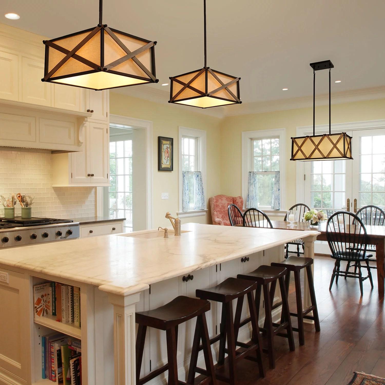 lnc rustic pendant lighting for kitchen island farmhouse chandelier with handmade painting finish walmart com
