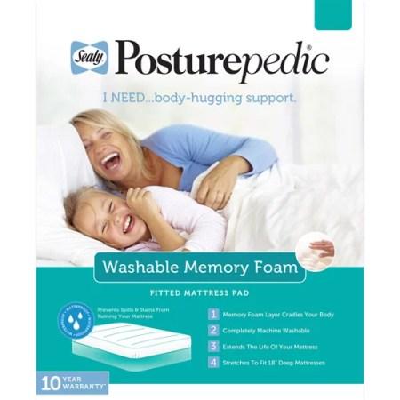 Sealy Posturepedic Cotton Washable Memory Foam Ed Mattress Protector