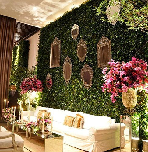 Lovely House Artificial Privacy Hedge Screen, UV Privacy ... on Wall Sconces For Greenery Decoration id=61904