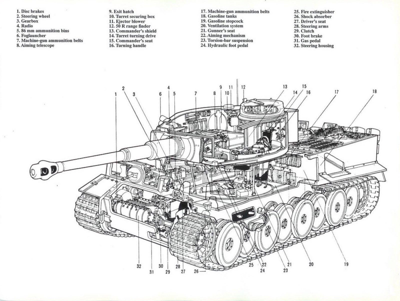 Acrylic Face Mounted Prints Tiger Tank Diagram Blue