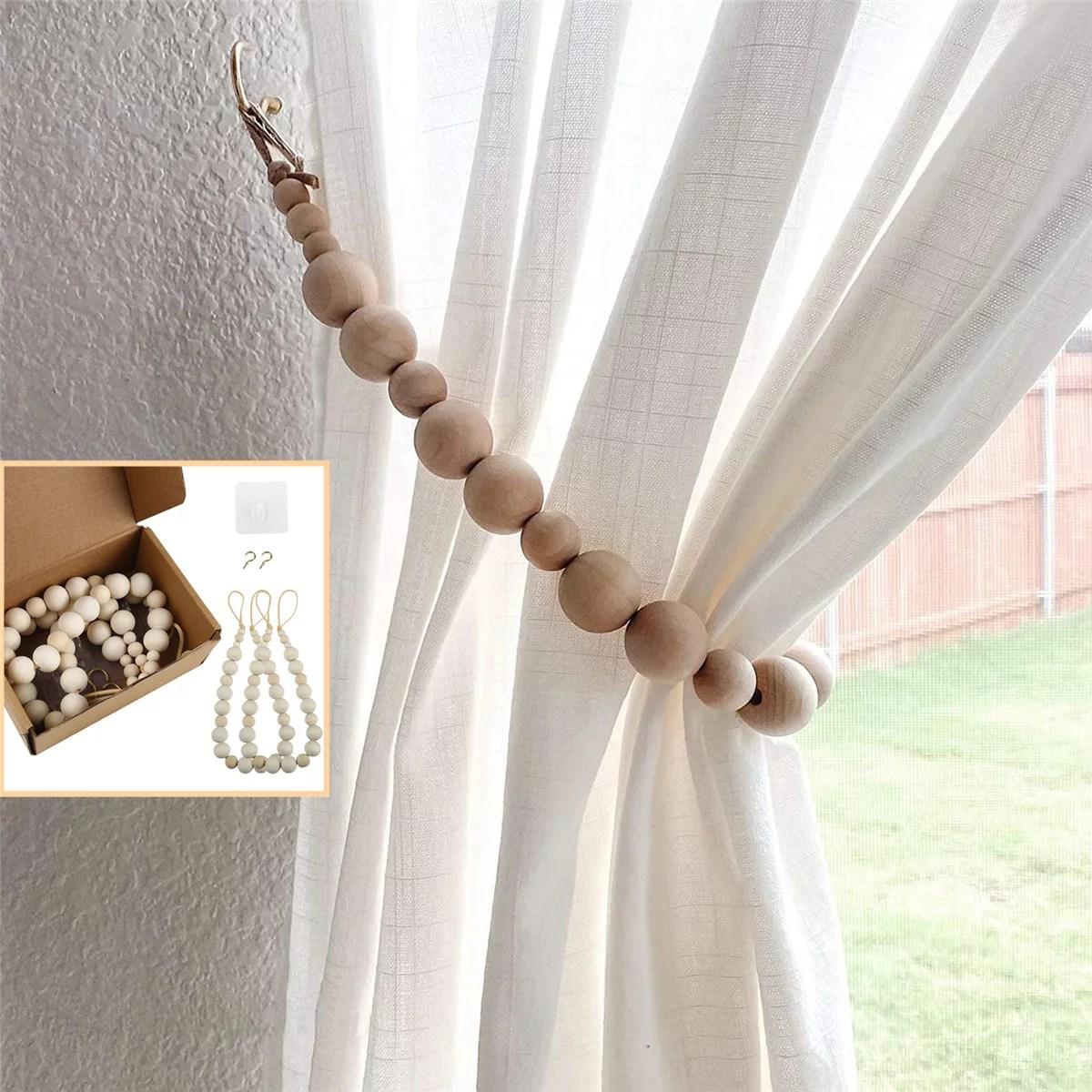 sets of 2 curtain tiebacks walmart com