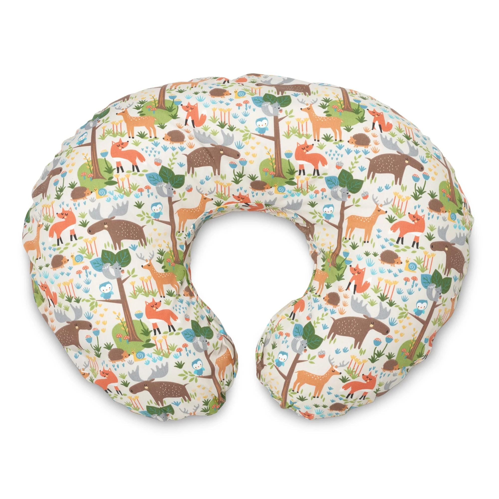 boppy original nursing pillow cover earth tone woodland
