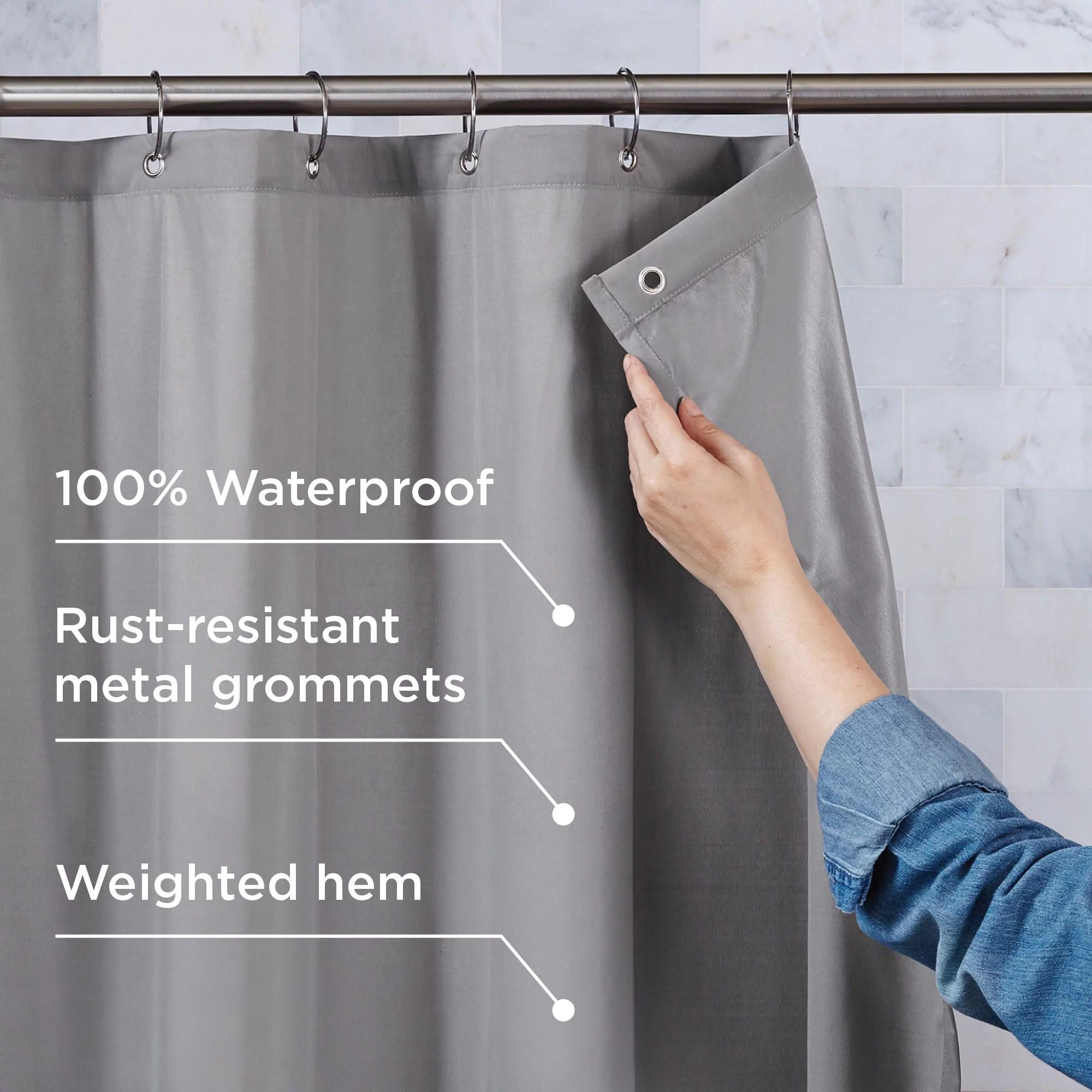 better homes gardens 100 waterproof fabric shower curtain or liner walmart com