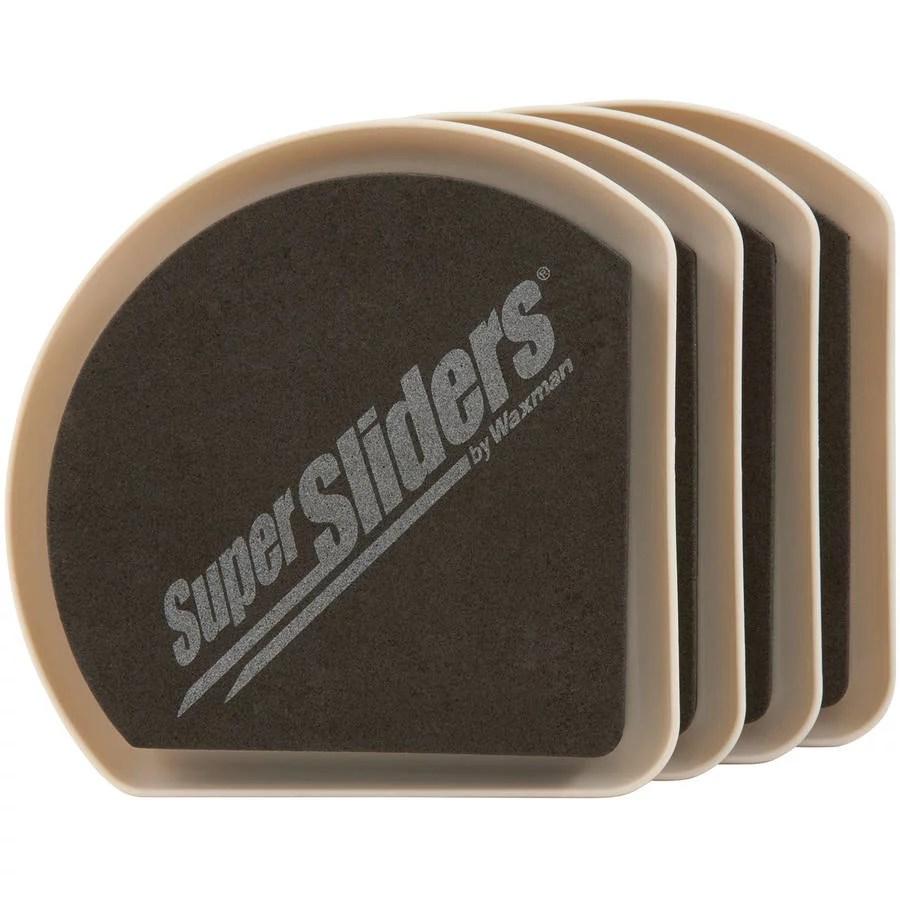 Waxman Consumer Group 4734195N 5 Hide Amp Slide Furniture Sliders 4 Count