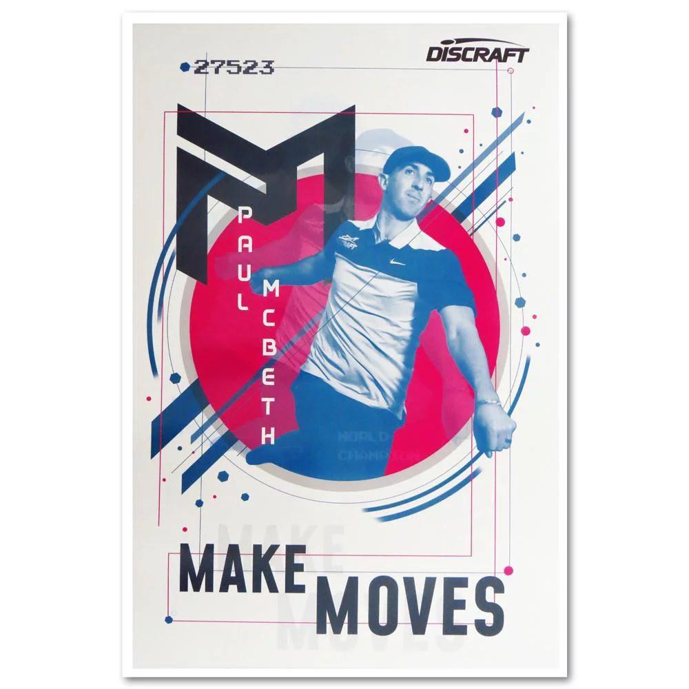discraft paul mcbeth make moves poster