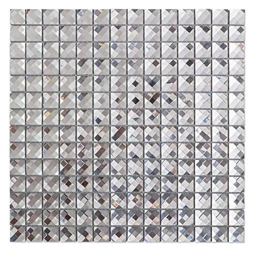 silver mirror glass mosaic tile crystal diamond mosaic tile 3 4 inch 22 sheets box