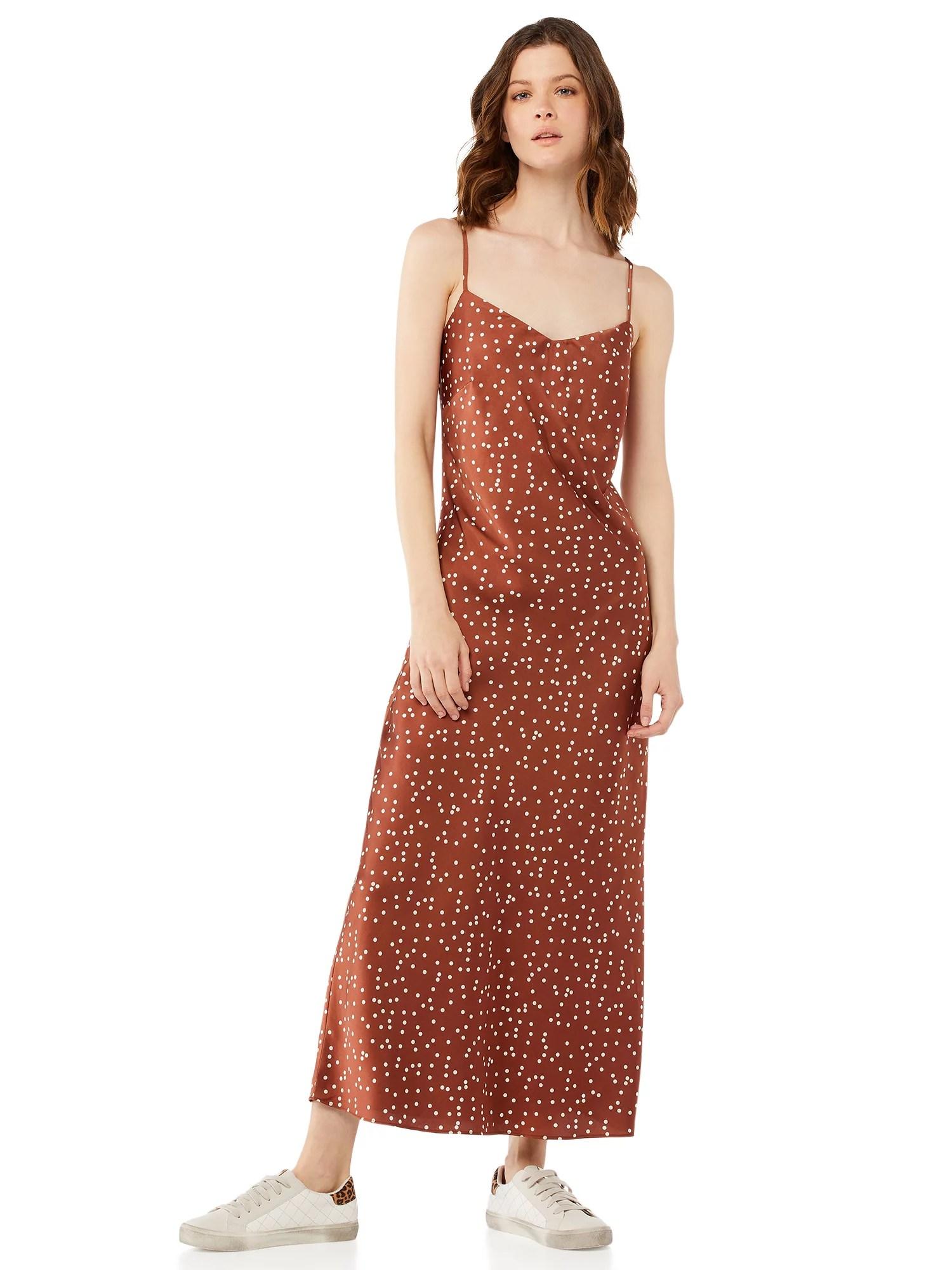 scoop women s print slip dress