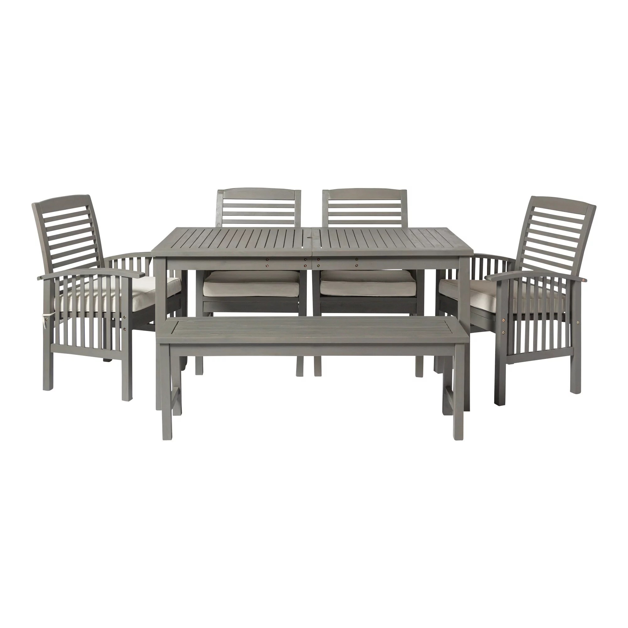 manor park 6 piece simple outdoor patio dining set grey wash