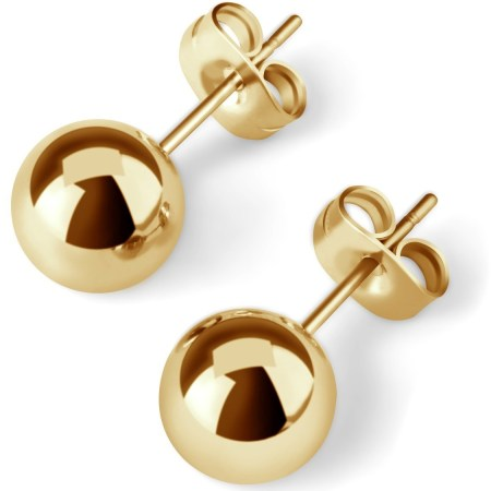 UHIBROS 316L Surgical Stainless Metal Spherical Ball Studs Earrings 5 Pair Set Assorted Sizes -Gold 3905d6cc 2c53 4e42 a7e5 312b115fbc10 1