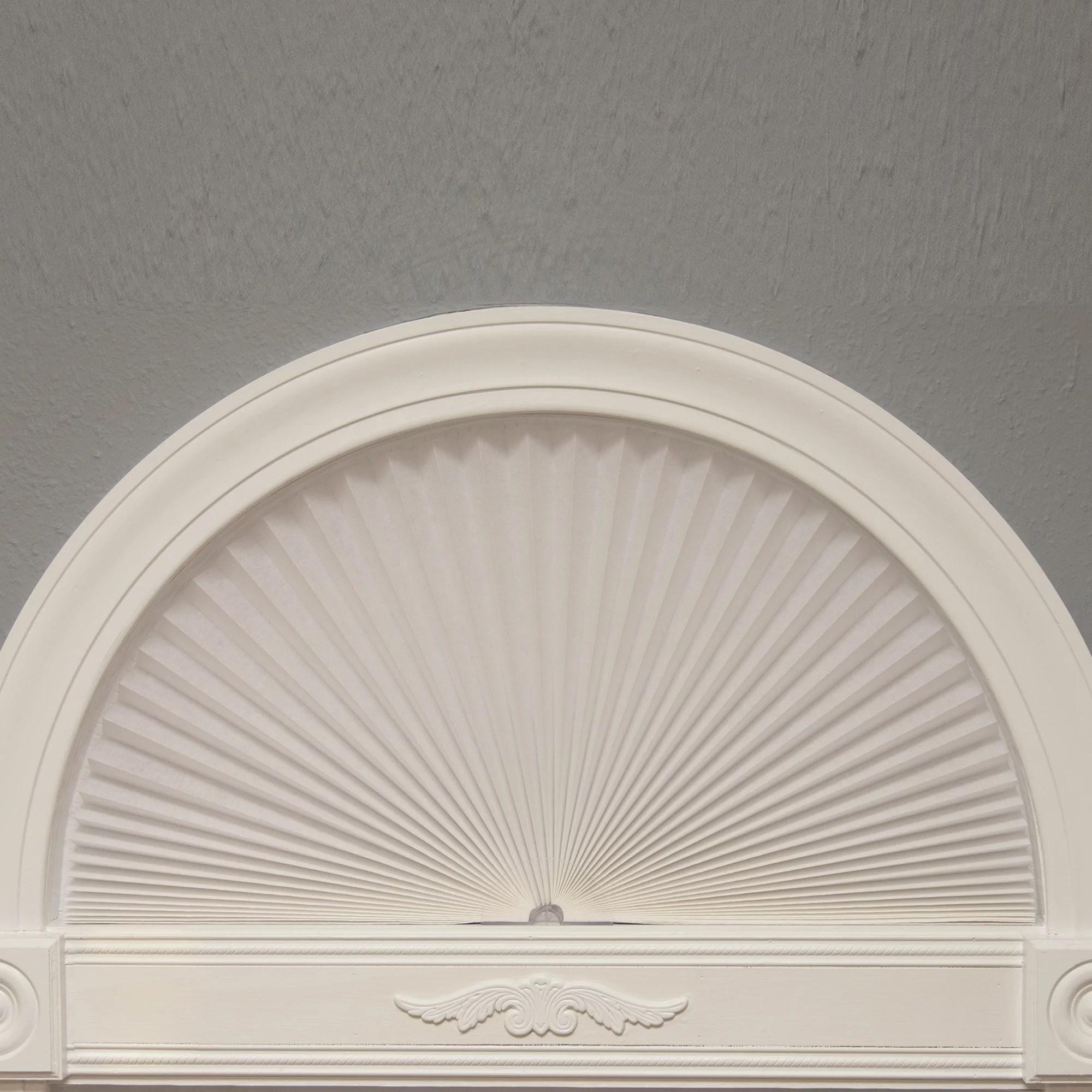 redi shade original arch light filtering pleated fabric white walmart com