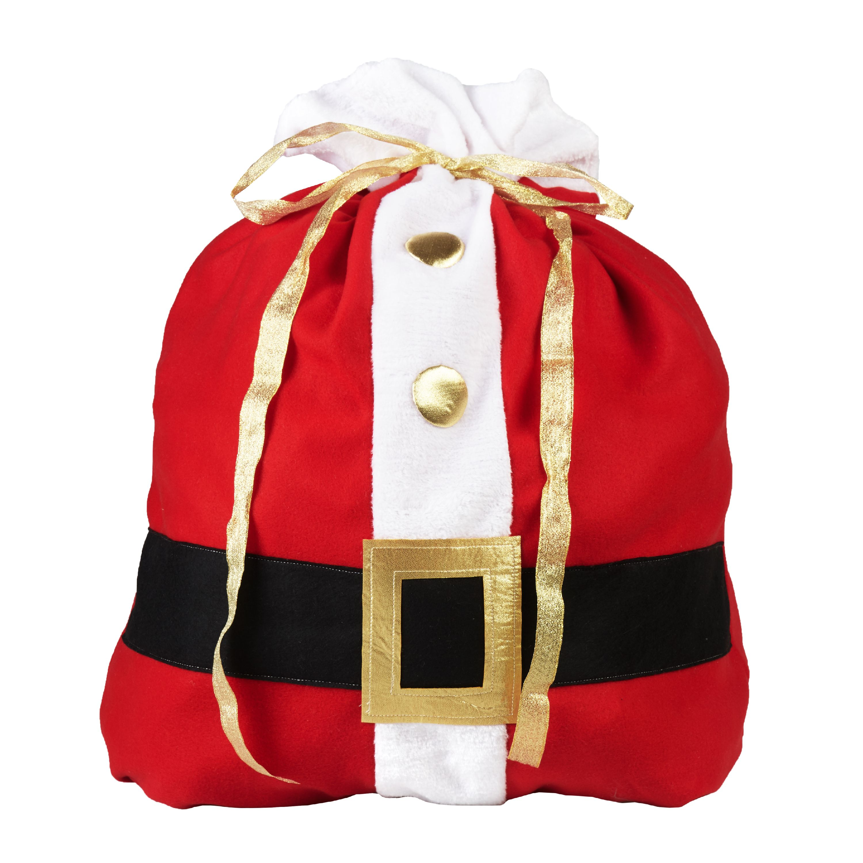 Holiday Time 36 Inch Fabric Christmas T Bag Santa