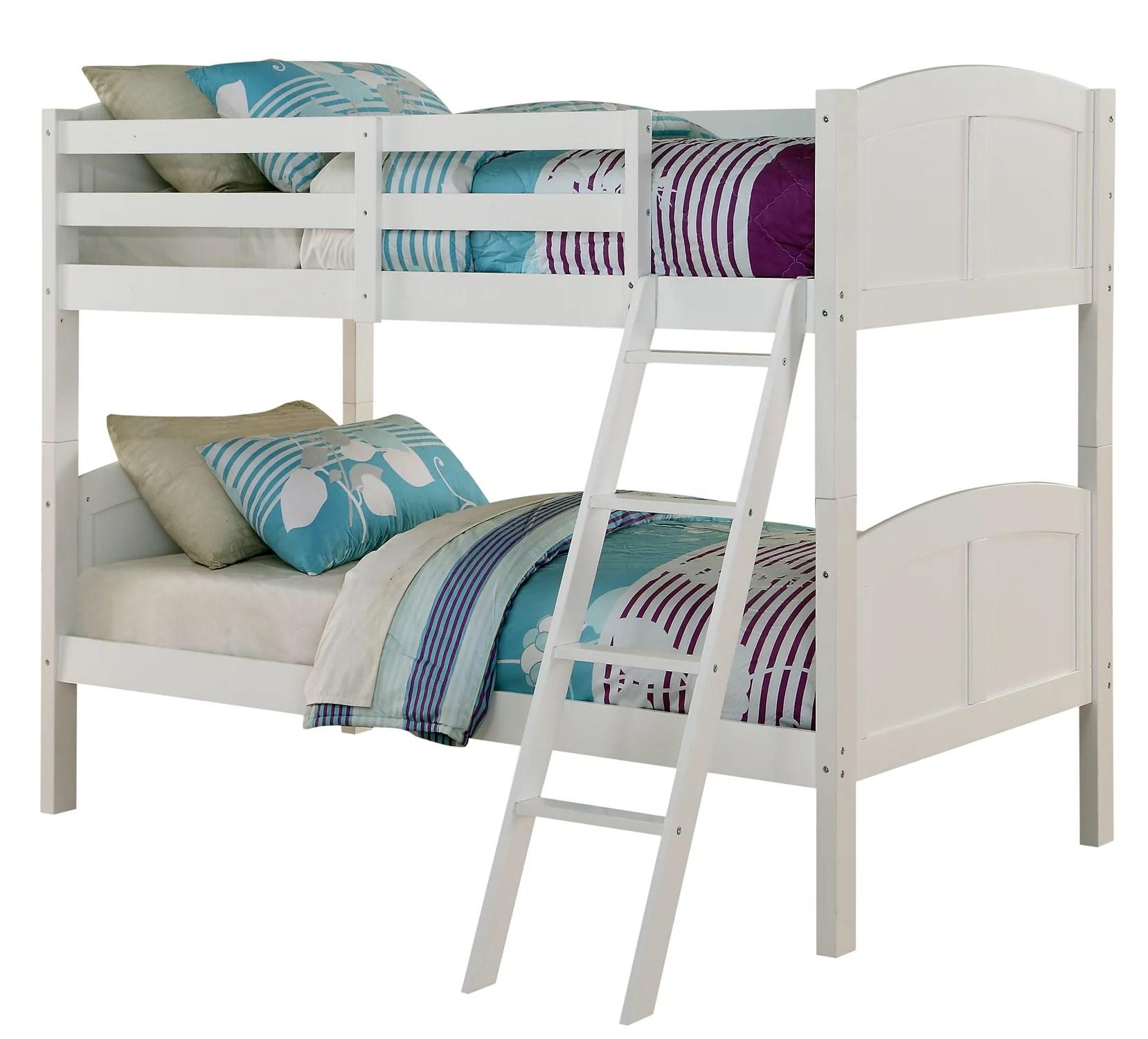Angel Line Creston Twin Over Twin Wood Convertible Bunk Bed Multiple Colors Walmart Com Walmart Com