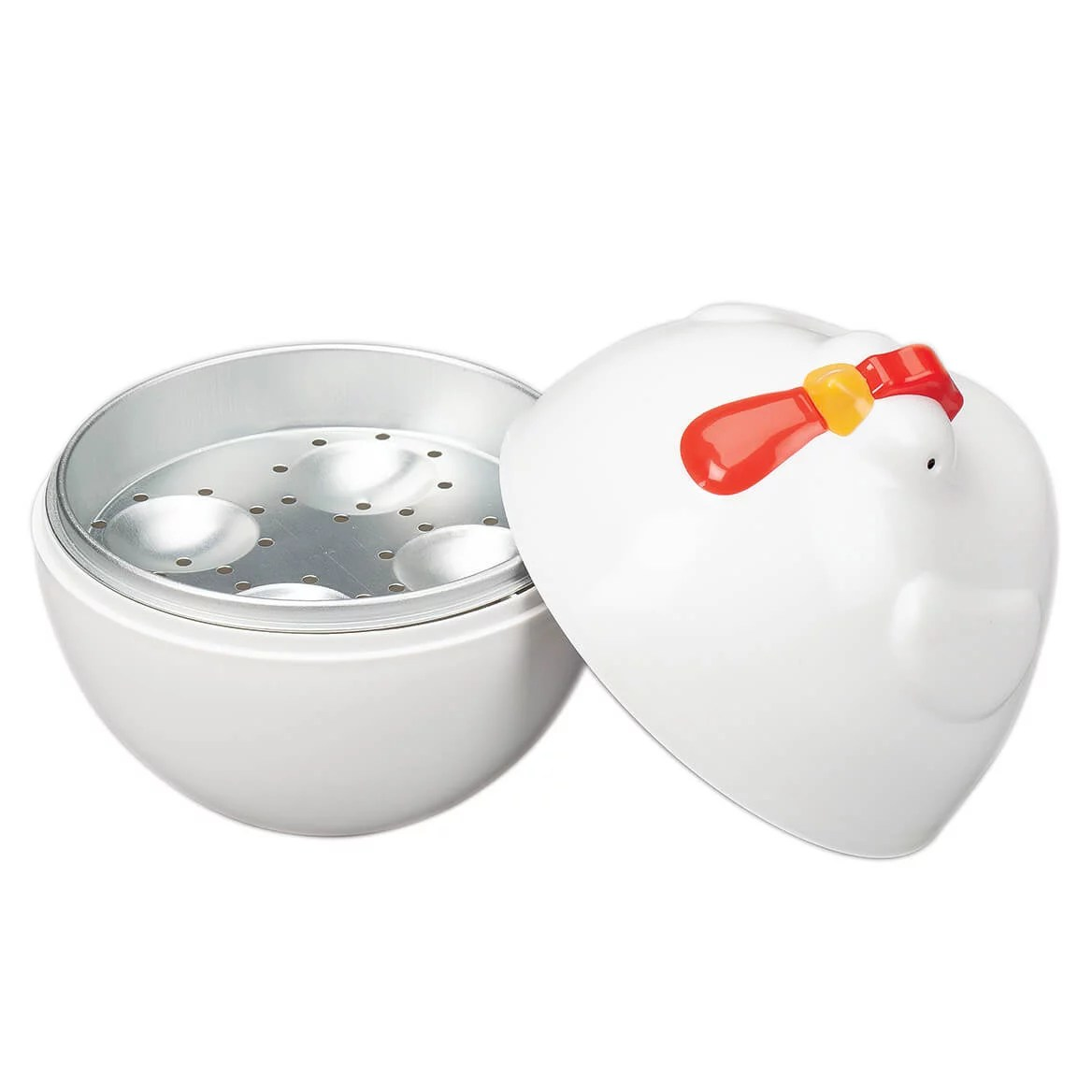 rooster microwave egg cooker by chef s pride