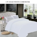 Elegant Comfort Goose Down Alternative 1pc Solid White Comforter Available In A Few Sizes And Colors Full Queen White Walmart Com Walmart Com