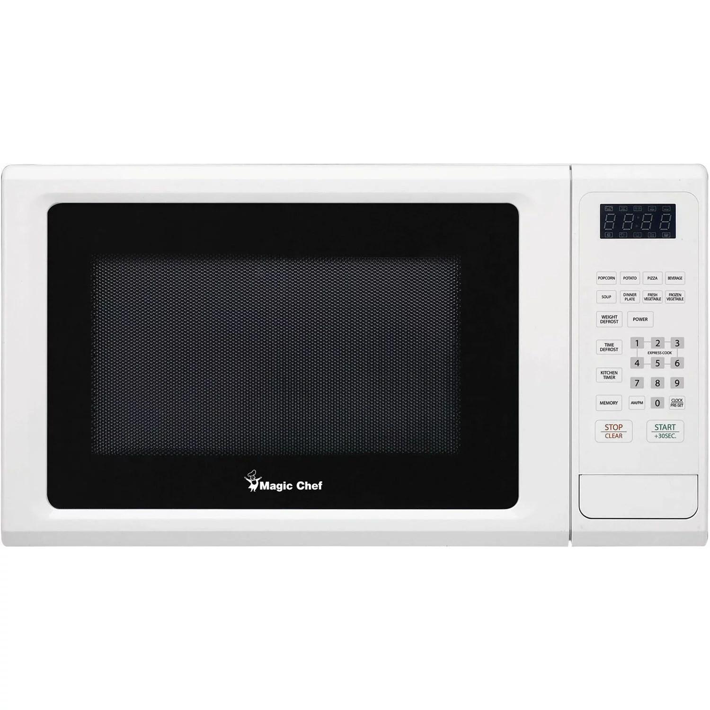 magic chef 1 1 cf microwave white