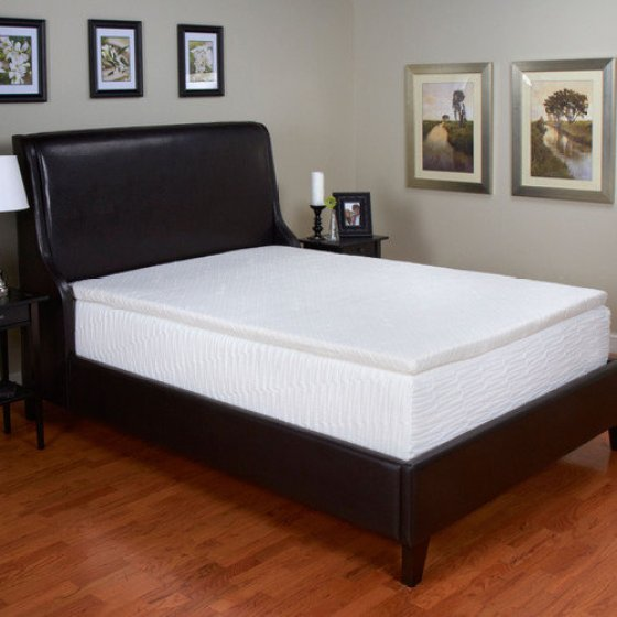 Classic Brands 2 100 Percent Latex Foam Mattress Topper With Removable Velour Cover