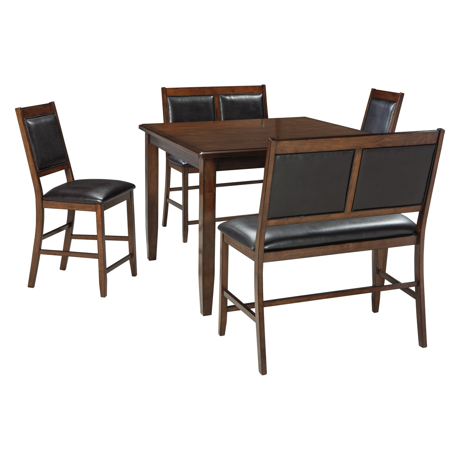 Ashley Furniture Meredy 5 Piece Counter Height Dining Table Set In Brown Walmart Com Walmart Com