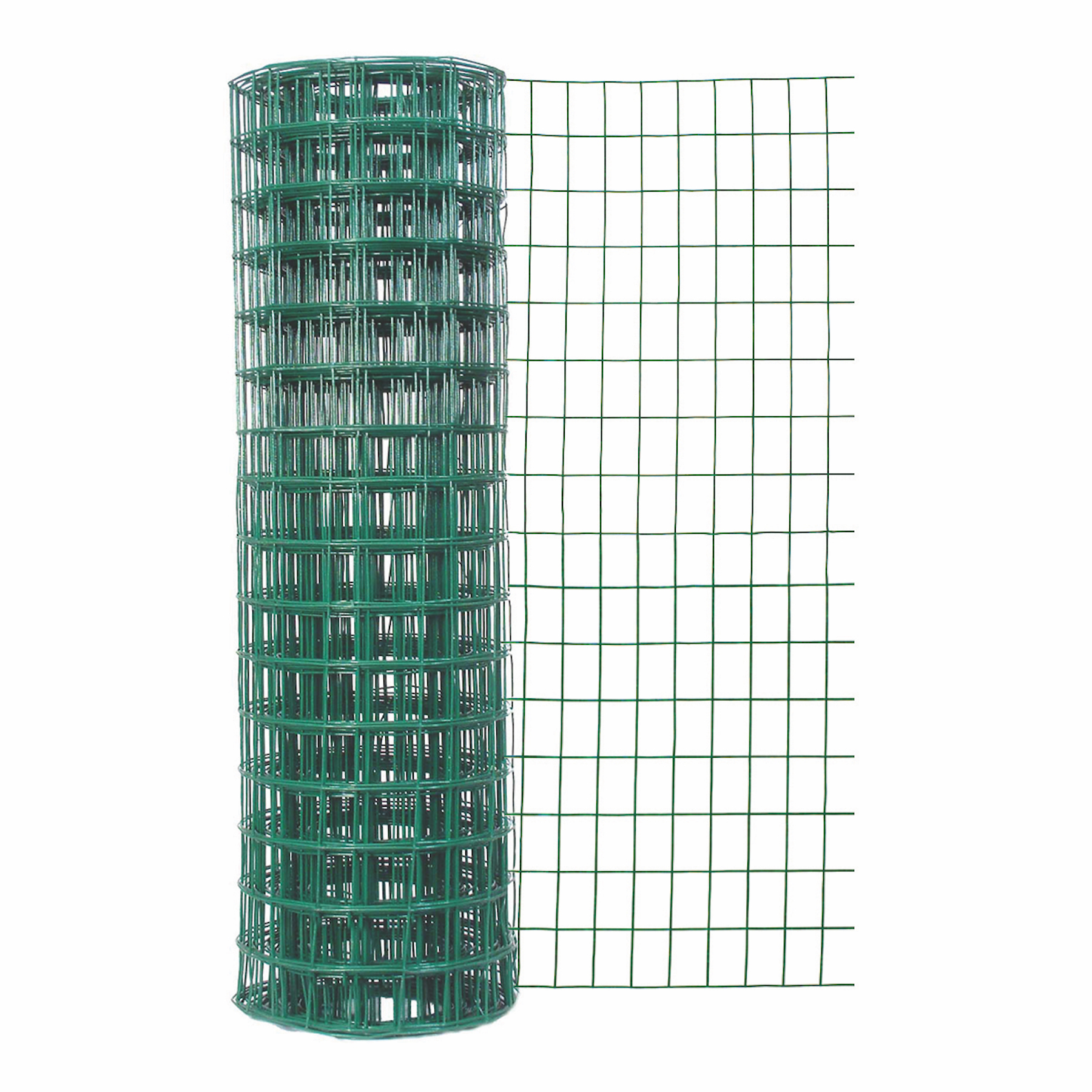 Expert Gardener 24 In. H x 50 Ft. L 2 In. x 3 In. Green Vinyl Coated Fence