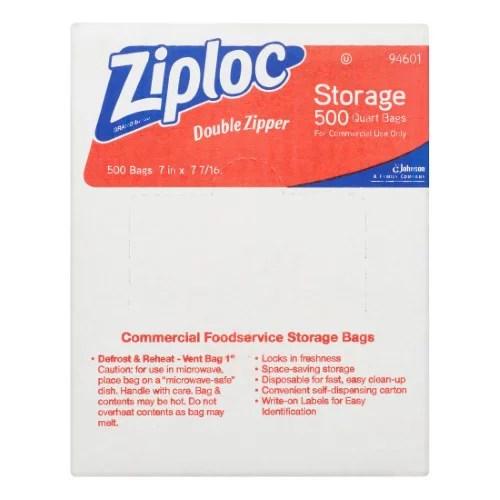 ziploc pinch seal storage bags quart 500 count