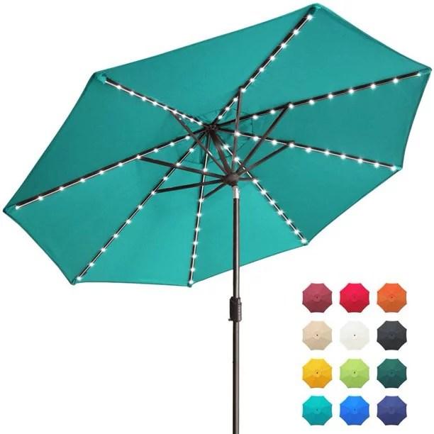 eliteshade sunbrella solar umbrellas 9ft market umbrella with 80 led lights patio umbrellas outdoor table umbrella with ventilation and 5 years