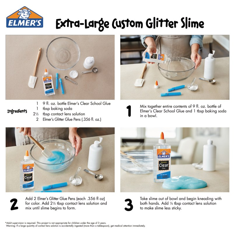 Slime recipe clear glue contact solution chekwiki saline solution slime recipe clear source elmer s clear washable liquid school glue 5 ounces 1 count com ccuart Image collections