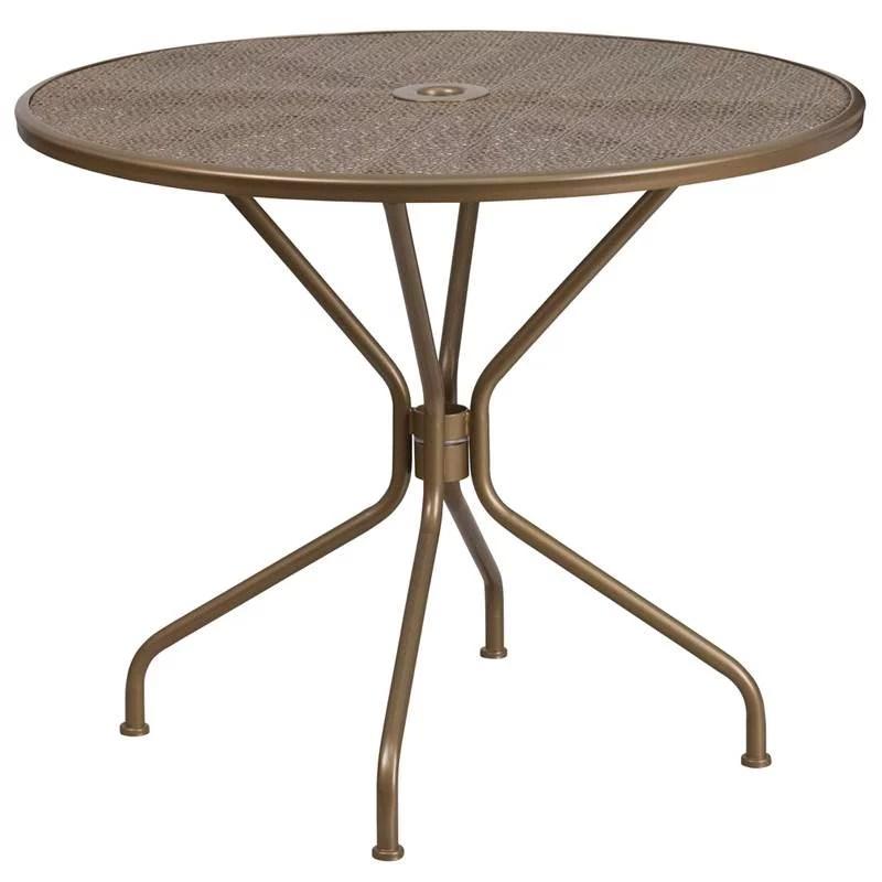 https www walmart com ip 35 25 round indoor outdoor steel patio table 55209475