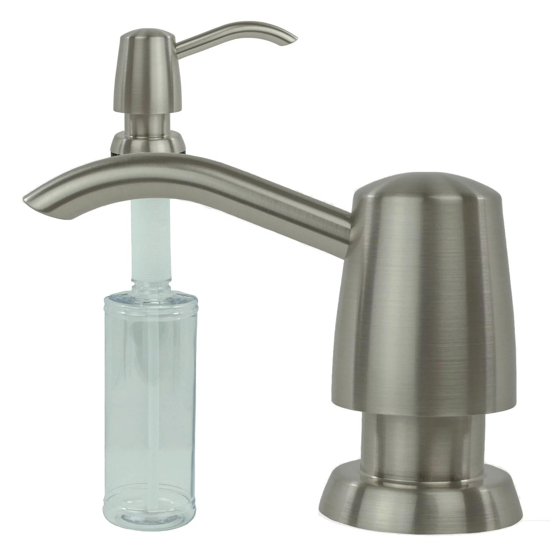 kitchen sink liquid built in soap dispenser lotion pump modern curved arc nozzle stainless walmart com