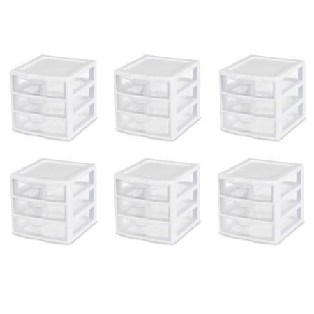 Sterilite, Small 3 Drawer Unit, Case of 6