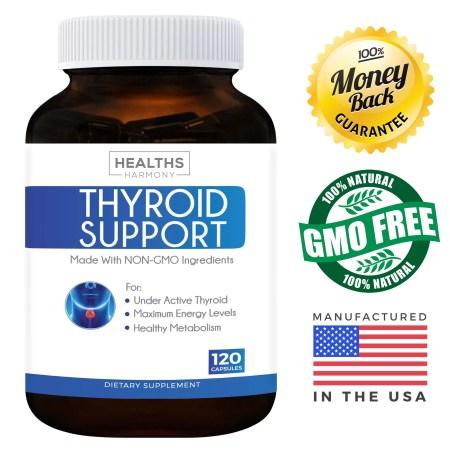 أفضل مكملات دعم الغدة الدرقية (NON-GMO) 120 كبسولات: تحسين الطاقة وزيادة الأيض لتخفيف الوزن – Iodine & Ashwagandha Root for Thyroid Well being 3b521ce2 2a28 439d 841c 88acf80888ab 1