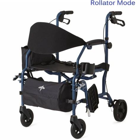 Kết quả hình ảnh cho Medline Combination Rollator Transport Chair, Blue