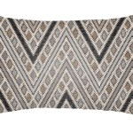 24 Brown And Beige Chevron Rectangular Throw Pillow Cover With Knife Edge Walmart Com Walmart Com