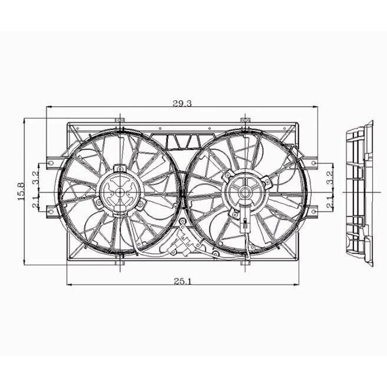 Radiator Cooling Fan For Dodge Intrepid Eagle Vision