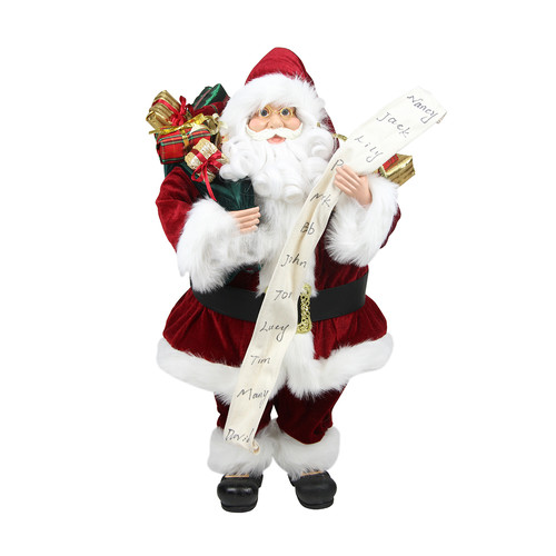 """24"""" Standing Santa Claus with Naughty or Nice List and Bag ..."""