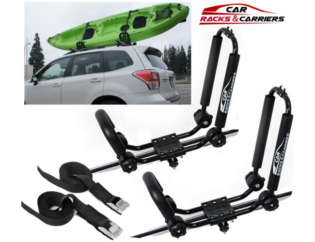 car rack carriers universal kayak carrier car roof rack set of two j shape foldable carrier for canoe sup and kayaks mounted on your suv car