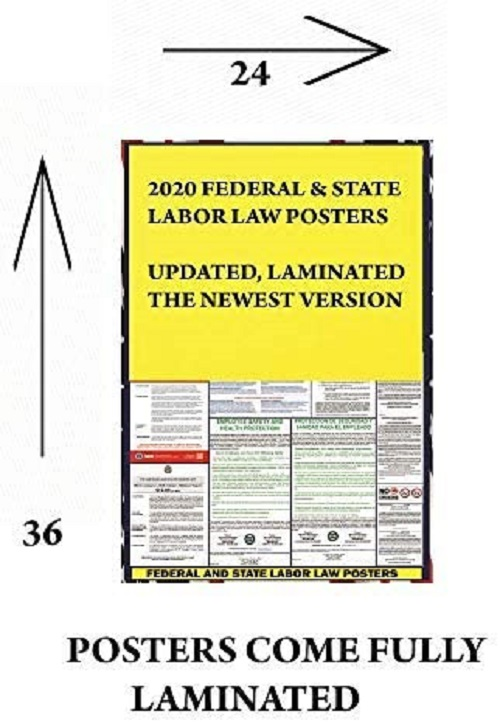 2021 california ca state labor law poster state federal and osha compliant laminated poster ideal for posting in the workplace easy to read