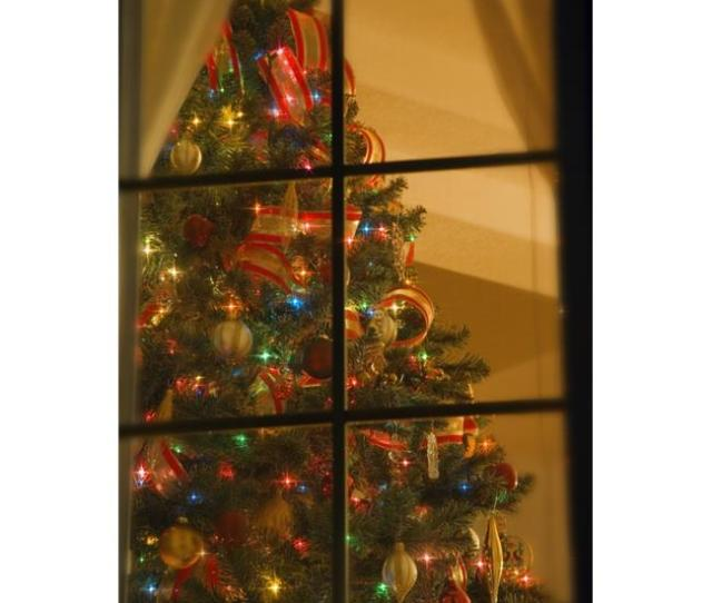 Looking At Indoor Christmas Tree Through Window Poster Print By Carson Ganci