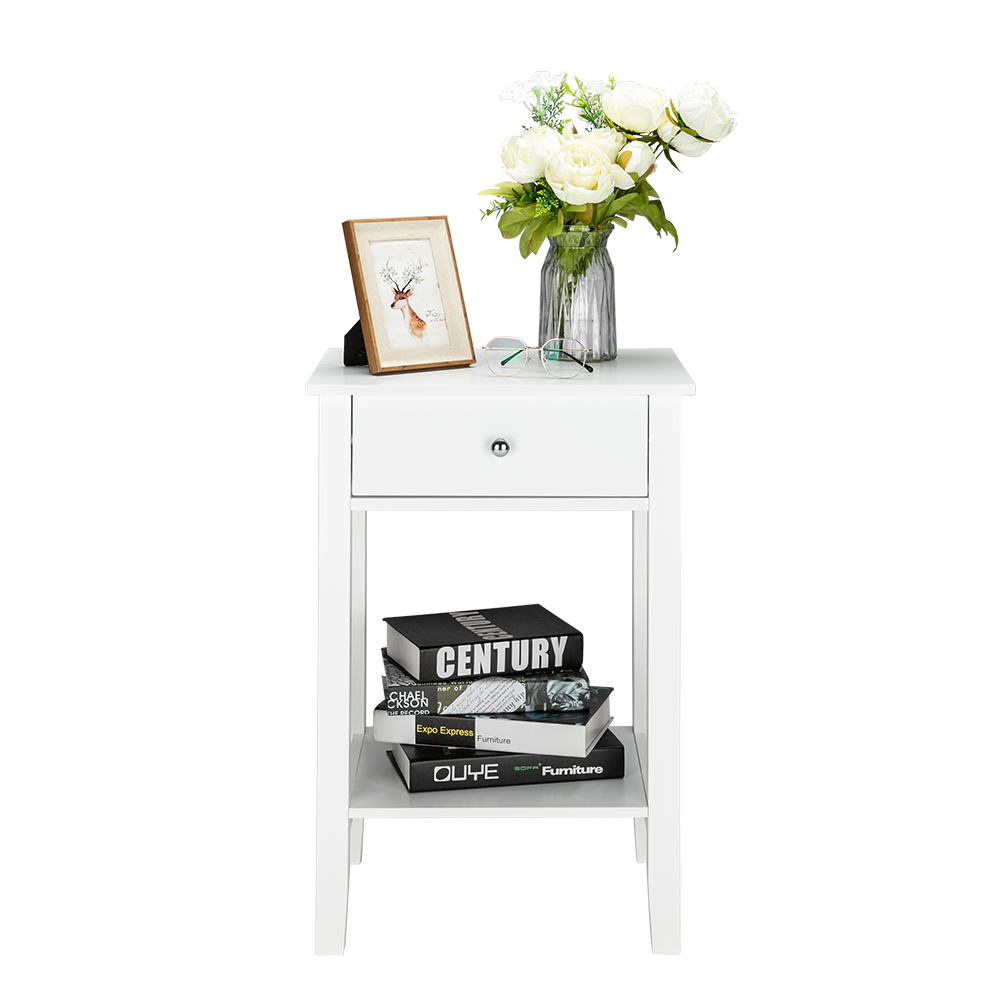 clearance bedside table 2 layer lateral nightstand mdf on walmart bedroom furniture clearance id=49319