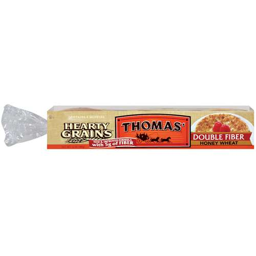 Thomas39 Hearty Grains Double Fiber Honey Wheat English