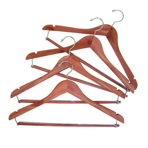 Household Essentials Cedar Space Saver Hanger, 4-Pack ... on Closet Space Savers Walmart  id=45235