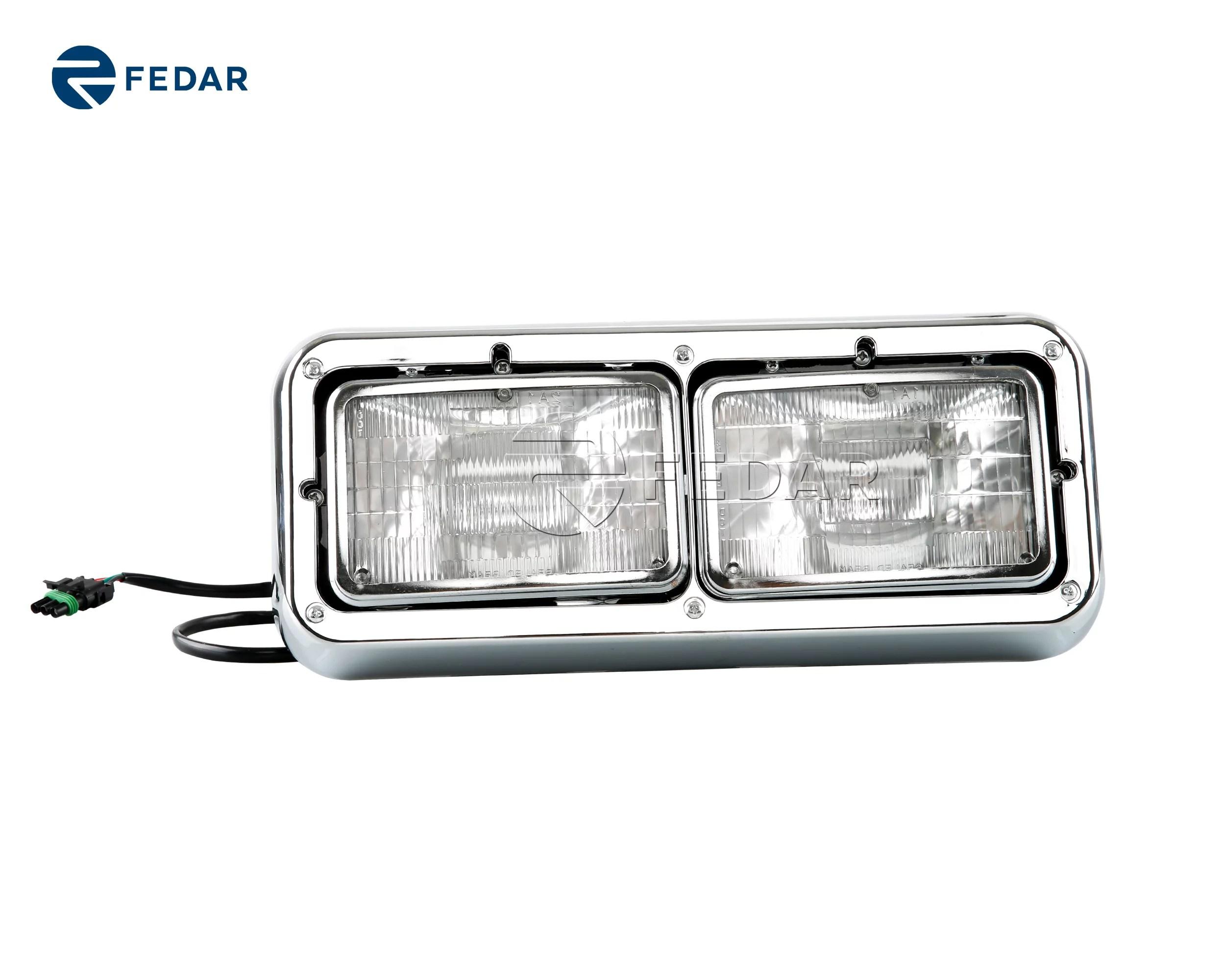 Fedar Headlight For Kenworth T400 T600 T800 Peterbilt