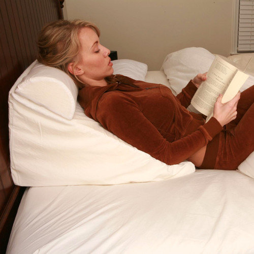 deluxe comfort bed wedge pillow