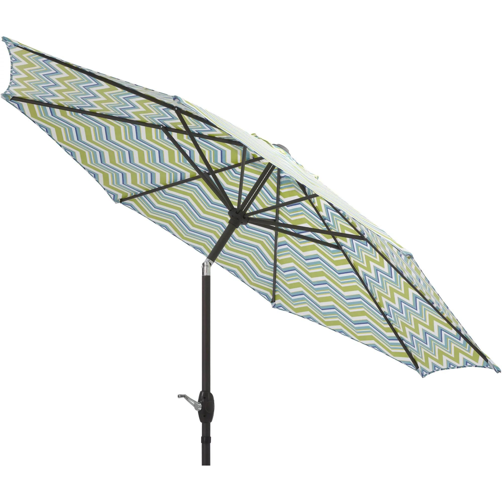 mainstays 9 foot outdoor tilt market patio umbrella miranda chevron
