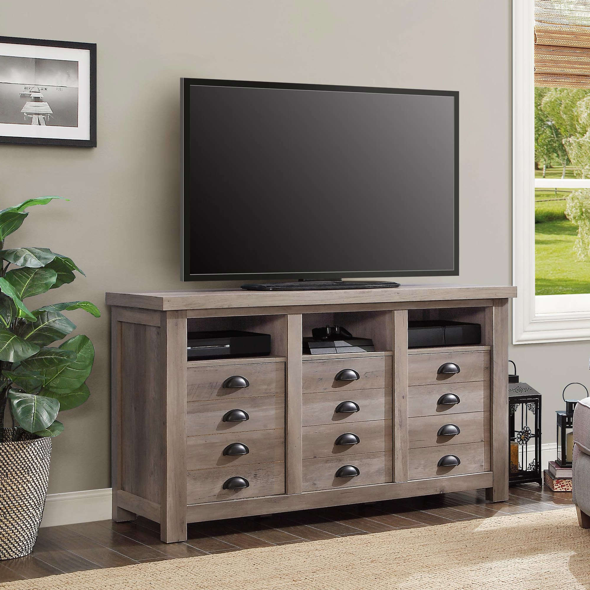 Better Homes And Gardens Granary Modern Farmhouse Printers TV Cabinet Multiple Finishes