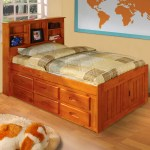 American Furniture Classics Model 2120 Bch Solid Pine Bookcase Headboard Twin Bed With Six Drawers In Honey Walmart Com