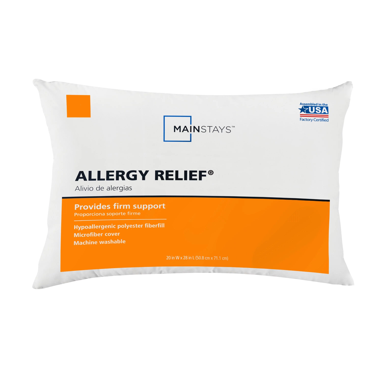 mainstays allergy relief hypoallergenic pillow