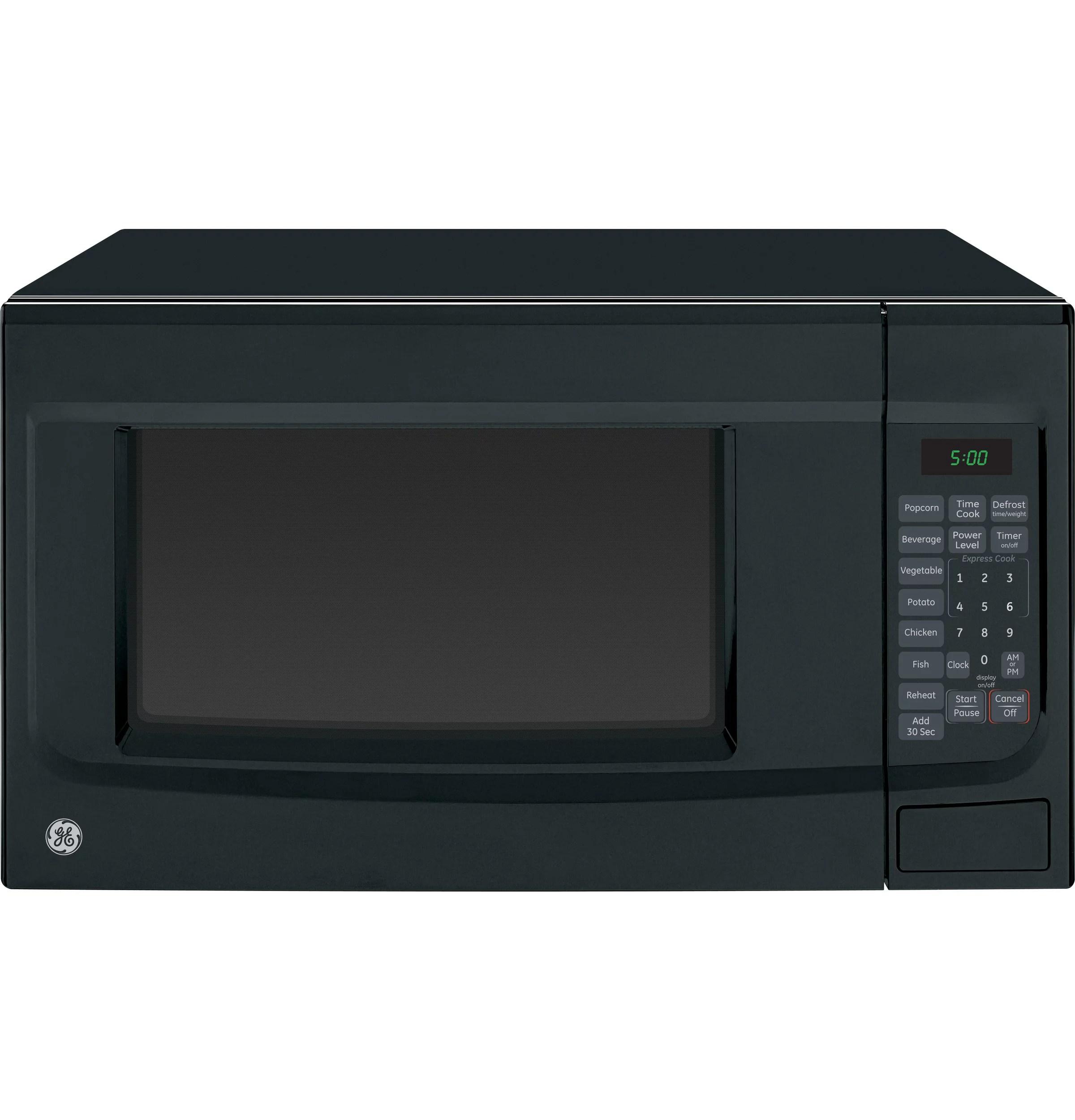 ge appliances 1 4 cubic foot countertop microwave oven black walmart com