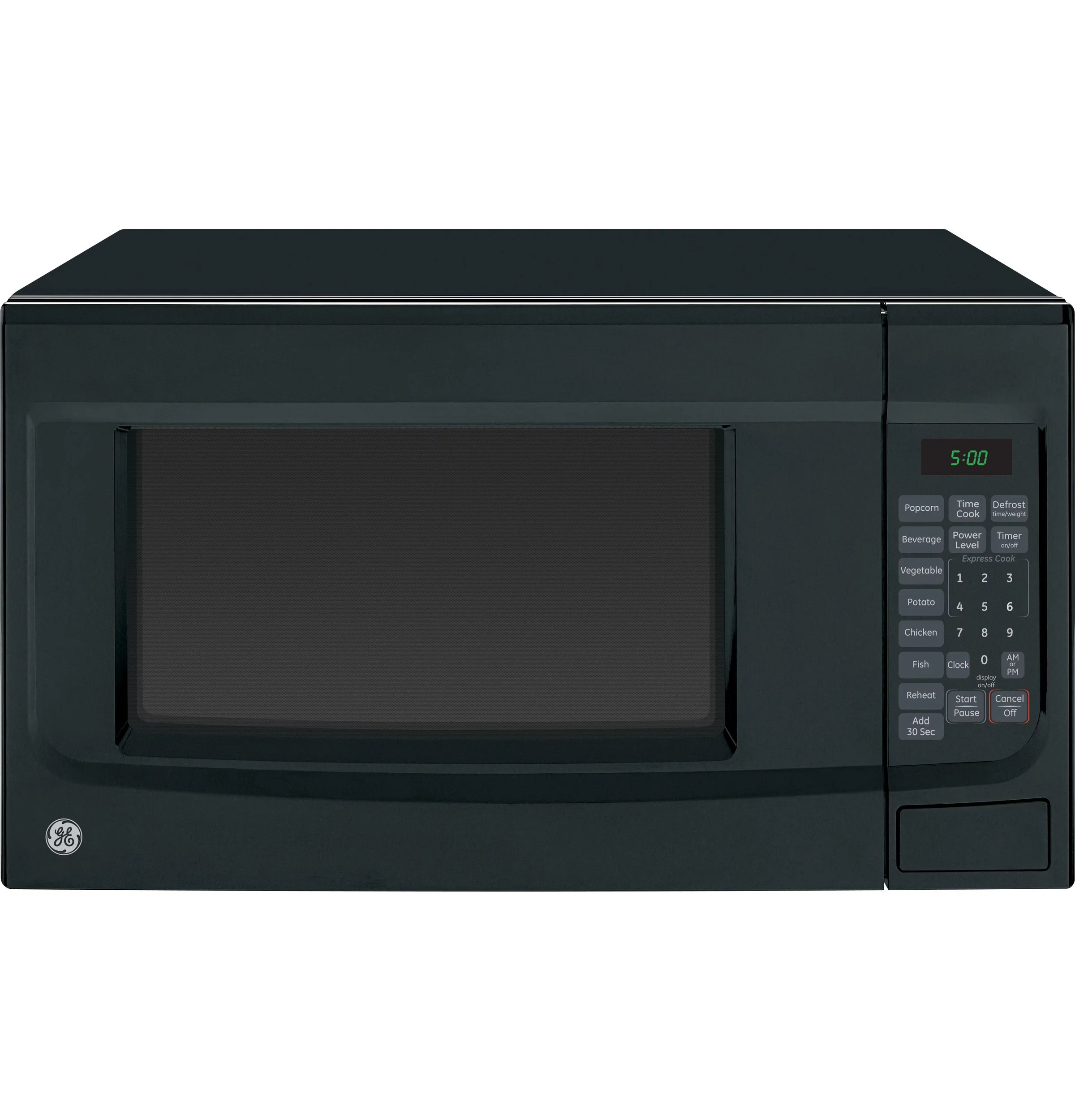ge appliances 1 4 cubic foot countertop microwave oven black