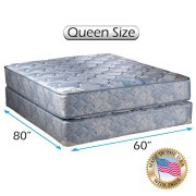 Chiro Premier Gentle Firm Orthopedic Blue Color Queen Size 60 X80 X9 Mattress And Box Spring Set Fully Assembled Good For Your Back High Quality