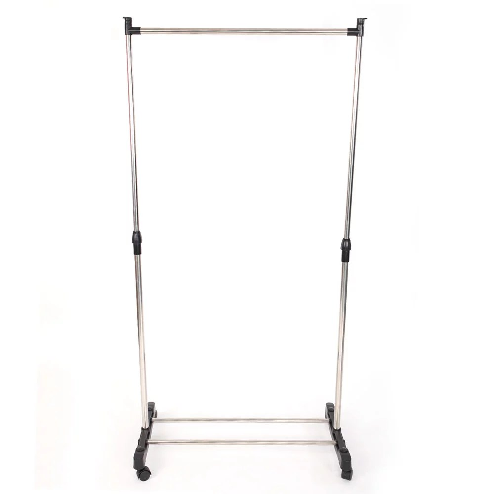 zimtown portable rolling clothes rack hanging garment hanger wheeled